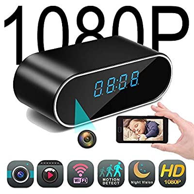 Mini Spy Hidden Camera Clock - Nanny Cam, Wireless IP Best Digital Small Full HD 1080P with WiFi, Motion Detection & Night Vision, Camaras para Casas by HIGHMEX