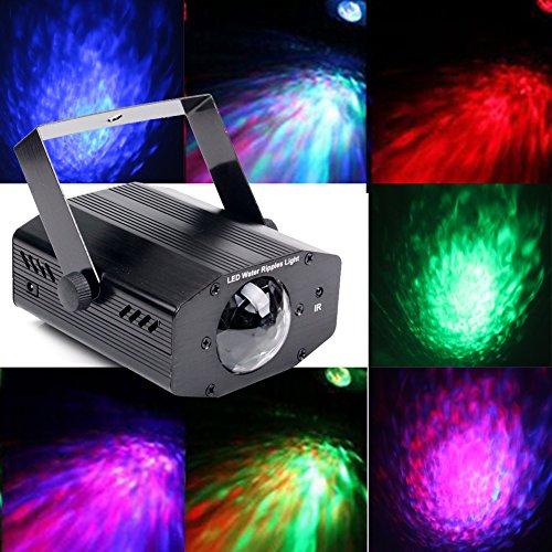 KOOT DJ Lights Party Light Projector, Strobe Light Sound Actived  Water Effect Light Stage Light LED 7 Color Flame Light Projector for Holiday Disco DJ KTV (88mm Light)