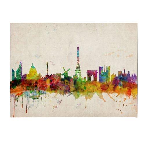 Paris Skyline by Michael Tompsett, 30 by 47-Inch Canvas Wall Art