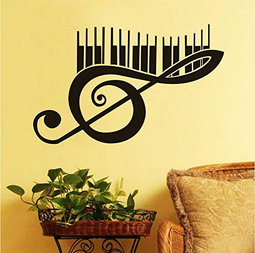 hwhz 37 X 59 cm Creative Art Piano Music Note Wall Sticker for Living Room Kids Room Removable Vinyl Wall Decals Wallpaper Murals Home Decor