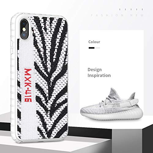 Fashion Sport Yeezy Case for iPhone Xr,Hard PC+ Yeezy 350 Sneakers Material,Shock Absorbing Protective Sport Case for iPhone 6.1 inch(Zebra White)