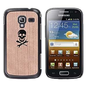 - Pirate Hacker Hacking Skull - - Funda Delgada Cubierta Case Cover de Madera FOR Samsung GALAXY Ace 2 I8160 BullDog Case