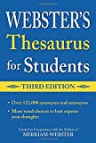 Webster's Federal Street Press Thesaurus for Students, 3rd Edition, Paperback, Grades 6 and Up, 352 Pages