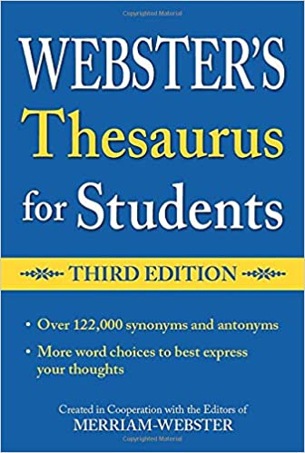 Webster S Federal Street Press Thesaurus For Students 3rd Edition Paperback Grades 6 And Up 352 Pages Merriam Webster Merriam Webster 8601400372241 Amazon Com Books