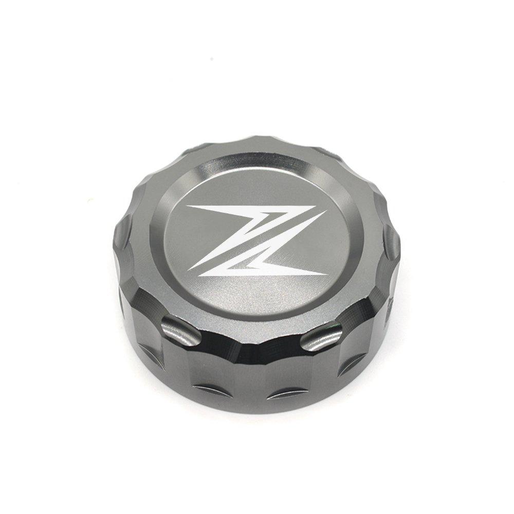 Z300 Z650 Z900 Z800 Z750 Z1000 Motorcycle CNC Aluminium Arriè re Ré servoirs de Liquide de Frein Couvrir Rear Brake Fluid Reservoir Cap Cover pour Kawasaki Z300 2016 Z650 2017 2018 Z900 2017 2018 Z800 2013-2017 Z750 R 2006-2010 Z1000 2007-201