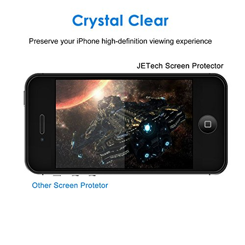 JETech 0305-SP-I4-GLASS - Protector de Pantalla para iPhone 4/4s, Vidrio Templado, 0.33mm