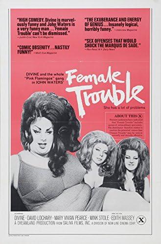 """Female Trouble Movie Poster Replica 13x19/"""" Photo Print"""