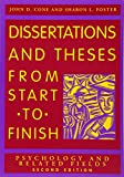 img - for Dissertations And Theses from Start to Finish: Psychology And Related Fields book / textbook / text book