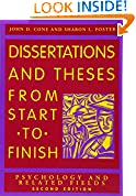 #6: Dissertation and Theses from Start to Finish: Psychology and Related Fields