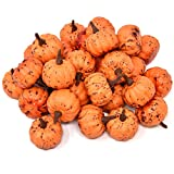 Gift Boutique Pack Of 36 Artificial Realistic Halloween Harvest Mini Orange Pumpkins For Fall Autumn Thanksgiving Party Crafts And Home Decor