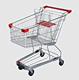 FixtureDisplays FOUR UNITS of 4.4 Cubic Foot 125 L Shopping Cart Grocery Supermarket Store Cart 16000 16001!
