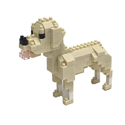 Nanoblock Labrador Retriever Building Kit, Brown: Toys & Games