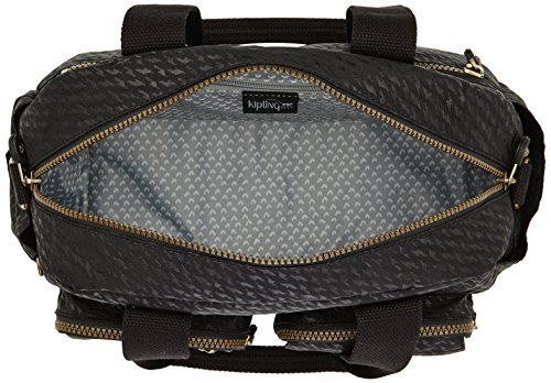 Bolso DEFEA mujer sintético Black de Negro Plover material hombro de BP L01 Schwarz Kipling gEwdx1Rg