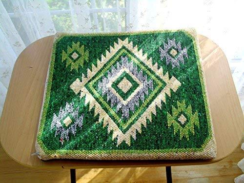 Green Handwoven vintage kilim pillow floor cushion vintage kilim bohemian kelim pillow, sofa cushion, chair cushion ()