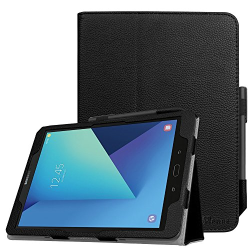 Fintie Folio Case for Samsung Galaxy Tab S3 9.7, [Corner Protection] Premium PU Leather Stand Cover with S Pen Protective Holder Auto Sleep/Wake for Tab S3 9.7 (SM-T820/T825/T827), Black