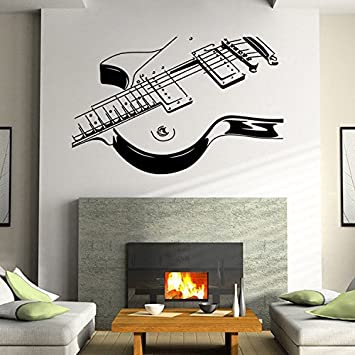 DACHUI 3D Pared de PVC Adhesivos Impermeables música para Guitarra Creativa Decorar la habitación salón Dormitorio para Quitar Sharp: Amazon.es: Hogar