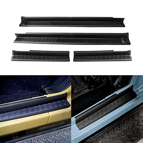 DIYTuning Black Entry Guard Kit for 07-17 Jeep JK Wrangler 4 Door