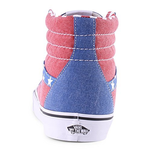 Vans Sk8-Hi Reissue Men Round Toe Canvas Multi Color Skate Shoe (Van Doren) Stars/Stripes sTBGYW7E