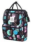 DISA 13'' Mini Small Fashion Backpack Purse | Fits 12-inch iPad Pro | Geometrics, Black