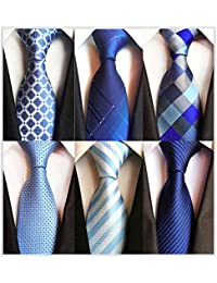 21071674765c New Neckties for Men 1 6 Pack Classy Men s Ties Woven Jacquard Ties