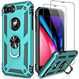 LUMARKE iPhone SE 2020 Case,iPhone 6 6s Case,iPhone 7/8 Case with Tempered Glass Sreen Protector,Pass 16ft Drop Test Military Grade Cover Protective Phone Case for iPhone 6/6s/7/8/SE 2020 Turquoise