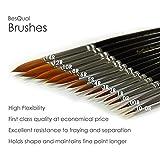 15 Pieces Quality Besqual Porcelain Brush Set Black Handle
