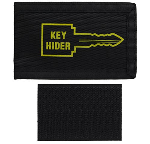 (Ram-Pro Soft Hide-A-Key Holder Pouch Large with Self Adhesive - Pouch Spare Key Hider Black, Clean Surface Stick to Anything Extra Super Strong - Good for Extra Spare Car Key, House Key)