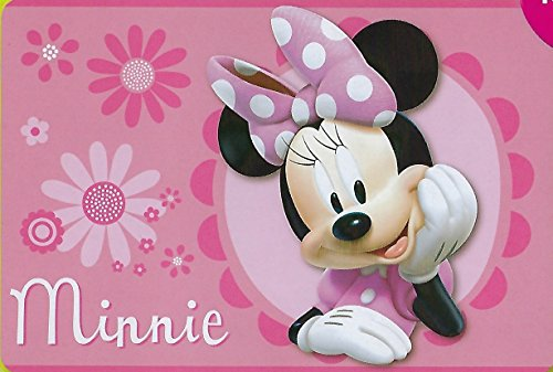 Large Disney 54x80 Extra Soft Non-Slip Back Area Rug (Pink Minnie Mouse)