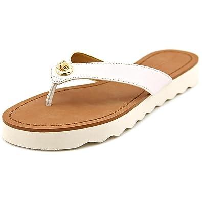 7302ae6ff01e Coach Shelly Women US 5.5 White Flip Flop Sandal