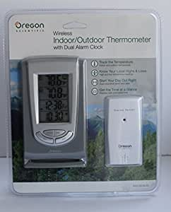 Oregon Scientific Wireless Indoor/Outdoor Thermometer W/ Dual Alarm Clock