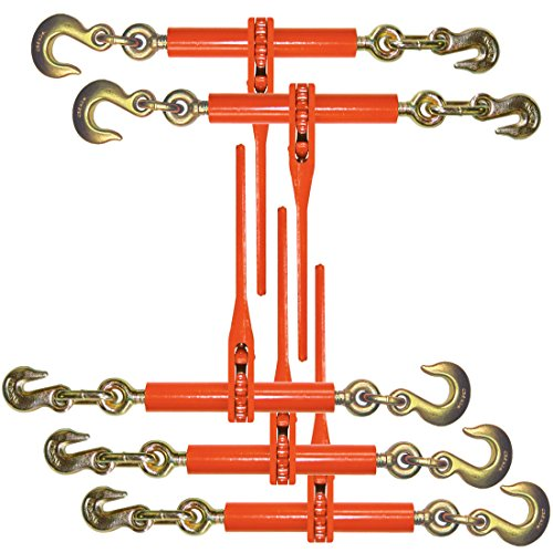 Vulcan Classic Ratchet Style Load Binder With Grab And Slip Hooks - 6,600 lbs. Safe Working Load (For 3/8'' Grade 70 Chain - Pack of 5) by Vulcan Brands (Image #5)