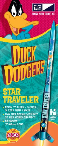 Rocket Kit Science Star (MPC Looney Tunes   Duck Dodgers' Star Traveler Rocket Kit)