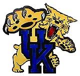 Gear New Kentucky Old School Wildcat 3D Vintage Metal College Man Cave Art, Large, Blue/Black/Tan/Brown