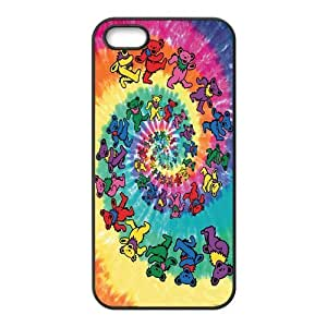 Colorful Spiral Bears Cartoon Hard Rubber Phone Cover Case for iPhone 5,5S Cases