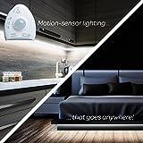 """Livin' Well Motion Sensor Light LED Strip – """"LightSaver"""" 5 Ft White LED Strip Lights w/45 Dimmable LED Light Strip Bulbs and LED Rope Lights Timer"""