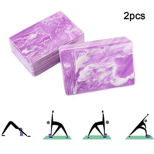 ZQSLD 2pcs Bloques de Yoga,Accesorios Deportivos: Ladrillos ...