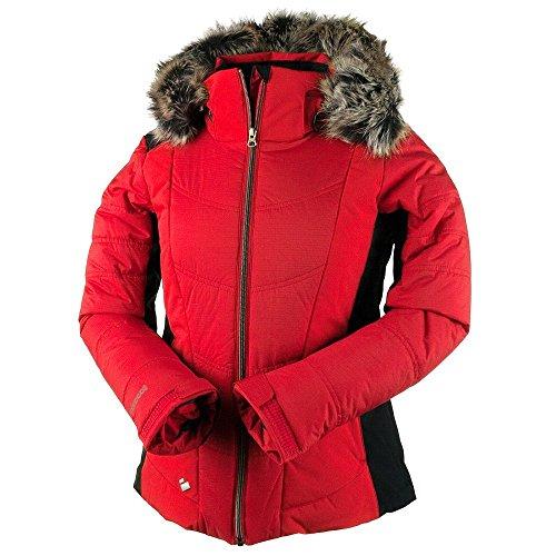 Obermeyer Verbier w/Faux Fur Womens Insulated Ski Jacket - 10/Crimson