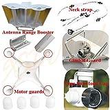 XSD MOEDL DJI Phantom 4 Antenna Range Booster + Camera Gimbal Guard Protector + Camera Lens Sun Hood Cap + Motor guards + Neck strap