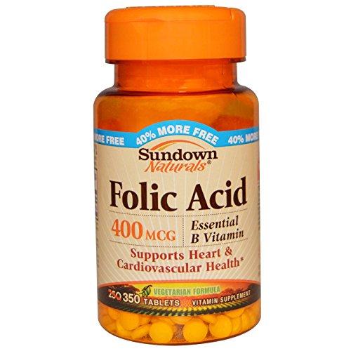 Rexall Sundown Naturals, Folic Acid, 400 mcg, 350 Tablets - 2pc
