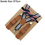 Love Leather Shape Kids Suspender Bow Tie Ring Bear Boy Packed Gift Adjustable 12