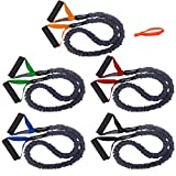 FitCord 5 Pack Very Light-Very Heavy COVERED Resistance Bands 4′ Fitness Tubes. American Made. Review