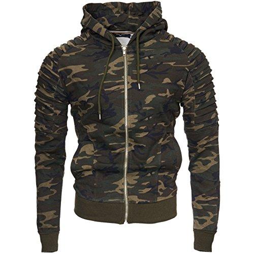 NEW Zip Kayhan Hoody Hoodie Camouflage Modello Green YORK Uomo qPqSwAt4