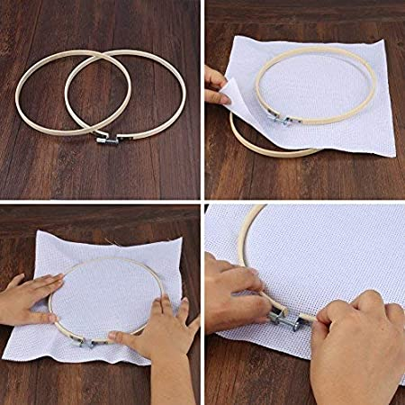 Crafts,Sewing Accmor Embroidery Hoop Set 5 Pieces Bamboo Cross Stitch Hoop Ring,5 Different Sizes Round Wooden Embroidery Hoop for Arts