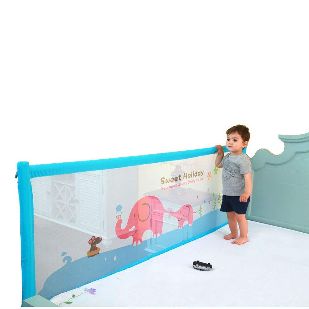ベビーベッドレールブルーエクストラロングベッドガード安全ベッドレール垂直リフト用キッズ幼児へのクイーン&キングサイズベッド、1.5-2メートル   B07TYVCJRC