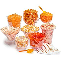 Orange Candy Buffet - Orange Theme Party Candy Kit - Desert Table set - 25 to 50 Guests