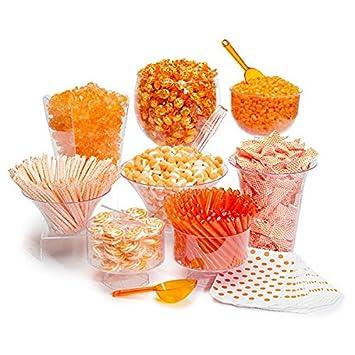 Magnificent Orange Candy Buffet Orange Theme Party Candy Kit Dessert Interior Design Ideas Inesswwsoteloinfo