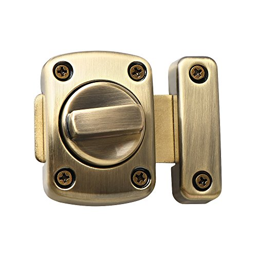 Alise MS220C-Q Rotate Bolt Latch Gate Latches Safety Door Slide Lock,Oil Rubbed Bronze