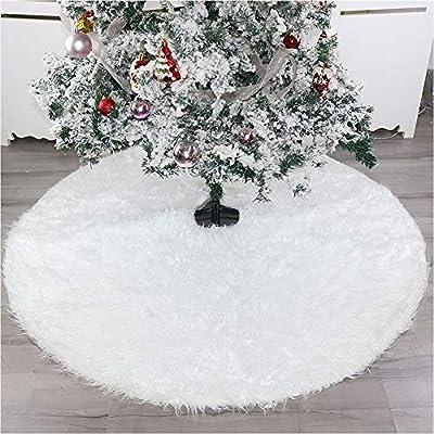 AIYoo Faldones para árbol de Navidad de Color Blanco de Peluche ...