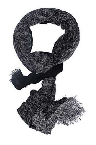 Men Oversized Scarf Wrap Two Tone Stole Fall Scarves Versatile Mens Accessories (black, white)