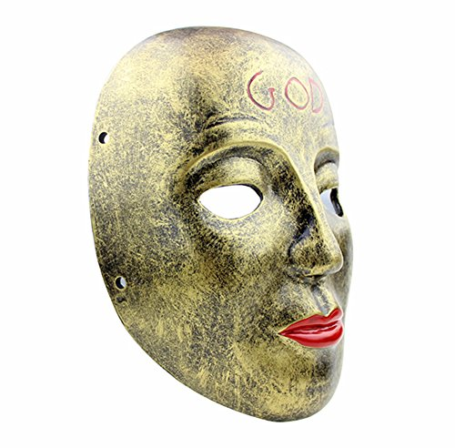 Gmasking 2017 The Purge Anarchy James Sandin God Mask Replica+Gmask Keychain B]()